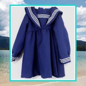 Vintage 70s ToddleTime Nautical Sailor Dress 4T